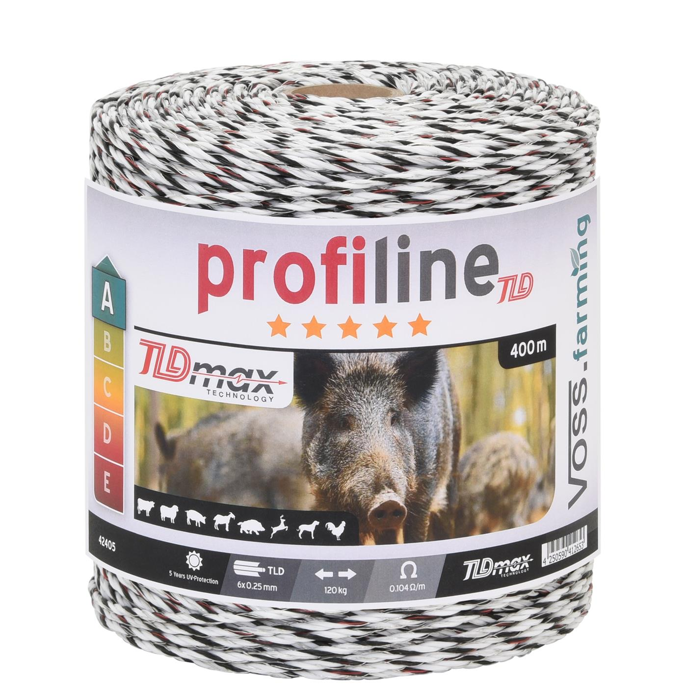 400m vossing electric fence wire d 3mm tld 6x0 25 white black