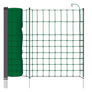 50m VOSS.miniPET Small Animal/ Pet Electric Fence Netting, 65cm, Green, 1 Spike