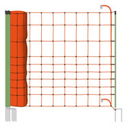 Euronet 120/2 Wolf Netting with Browsing Protection + Wolf Clip for Safety of Sheep
