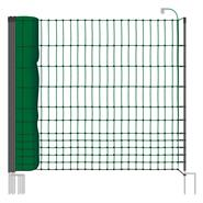 VOSS.farming classic 50m Chicken Fence, Poultry Netting, 112cm, 16 Posts, 2 Spikes, Green