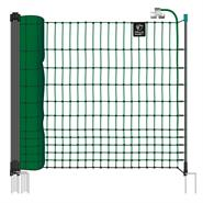 VOSS.farming farmNET 50m Chicken Netting, Poultry Net, Electric, 112cm, 16 Posts, 2 Spikes, Green