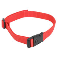 Nylon Collar, DogTrace + PetSafe + Canicom, Red