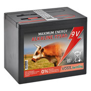 "VOSS.farming ""ALKALINE 175Ah"" - 9V Battery for Energisers , Large"