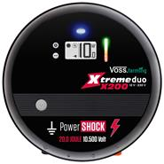 "VOSS.farming ""Xtreme duo X200"" - Extremely Powerful Mains/12V Electric Fence Energiser, 20J"