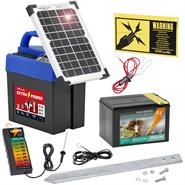 "9V VOSS.farming Energiser ""Extra Power 9V SOLAR"" incl. Battery + Fence Tester"