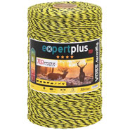 VOSS.farming Electric Fence Polywire 1000m, 3x0.25 TLD, Black-Yellow