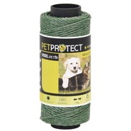 VOSS.miniPET Polywire - 100m - 3x0.20 Stainless Steel, Green
