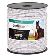 VOSS.farming Electric Fence Rope 200m, Ø 6mm, 6x0.25 HPC®,  High Performance Conductor, White