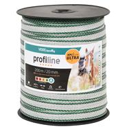 VOSS.farming Electric Fence Tape 200m, 20mm, 6x0.4mm HPC® Ultra, White-Green, profiline