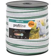 VOSS.farming Electric Fence Tape 200m, 40mm, 10x0.4mm HPC® Ultra, White-Green, profiline