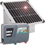 "VOSS.farming Set: 35W Solar System + Box + 12/230V ""HELOS 4"" Energiser"
