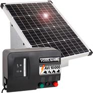 VOSS.farming Premium Set: 55W Solar System + 12V AVi 10.000 Energiser + Carry Box