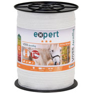 VOSS.farming Electric Fence Tape 200 m, 40 mm, 9x0,16 STST, White