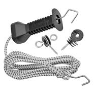 VOSS.farming Gate Handle Set with Elastic Rope 4,90m (Expands up to 9.5m)