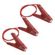 VOSS.farming Line Connector / Link with 3 Crocodile Clips, Red