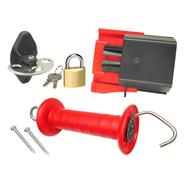Set: Lockable Gate Handle System, Securing the Fence Gate, STAINLESS STEEL