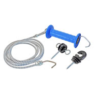VOSS.farming Gate Handle Set with Elastic Rope, 3.20m/ 6.2m, Electric Fence