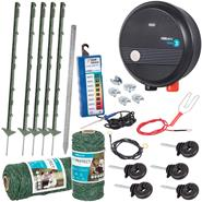 VOSS.farming Complete Electric Fence Kit for Dog/Cat Fence with Mains Energiser, Green