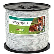 VOSS.farming Electric Fence Rope, 500m, 6mm, 5x0.2 StSt + 1x0.25 Cu, White/Green, Expert Plus