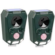 2x VOSS.sonic 2200 Ultrasonic Animal Repeller, Cat, Dog Scarer, Badger, Fox, Rabbit Deterrent