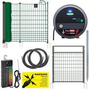 VOSS.farming 50m Premium Poultry Fence Kit, Mains, farmNET+ Green Netting, Gate, Tester - Anti-Fox