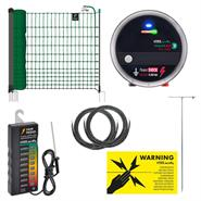 VOSS.farming 50m Starter Poultry Fence Kit, 12V / Mains, farmNET Green Netting, Tester - Anti-Fox
