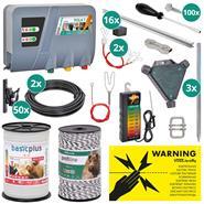 VOSS.farming Boar Fence, Complete Kit for 100 m, Plot Protection Kit