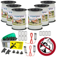 VOSS.farming Wolf Emergency Kit for Horses (Permanent Fence 400 m)