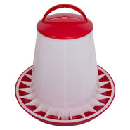 Poultry Feeder 10kg with Lid,PP(Red/White)