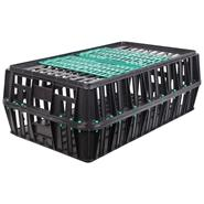 Poultry Transport Crate, with 2 Sliding Doors (83x50.5x31 cm)