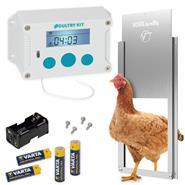 """SET: VOSS.farming """"Poultry Kit"""" Chicken Coop Opener + Aluminium Door 220x330mm"""