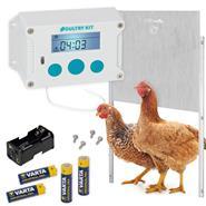 """SET: VOSS.farming """"Poultry Kit"""" Chicken Coop Opener + Aluminium Door 430x400mm"""