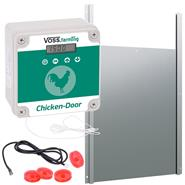 SET: VOSS.farming Chicken-Door - Electronic Automatic Chicken Coop Opener + Aluminium Door 300x400mm
