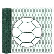 10m VOSS.farming Wire Netting, Rabbit Fence, 50cm High, Mesh 13x25mm, Green