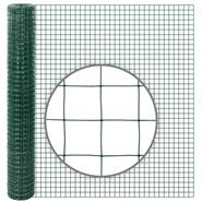 10m VOSS.farming Galvanised Wire Mesh, 100cm High, Mesh 25.4x25.4mm, Ø 1.05mm, Green