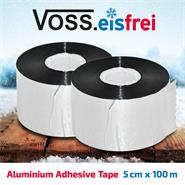 2x VOSS.eisfrei Aluminium Foil Tape Duct 50m x 5cm for Frost-Protection Heating Cable