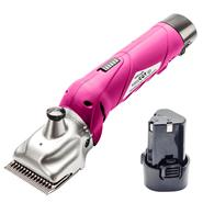 """VOSS.farming """"easyCUT go"""" Cordless Horse Clippers, Pink"""
