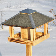 Blaavand - Bird Table in Original Danish Design, 123cm High, 37x37cm, incl. Wooden Stand