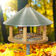 Roskilde - Bird Table in Original Danish Design, 155cm High, Diameter 40 cm, incl. Stand