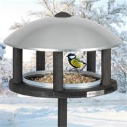 """VOSS.garden Wooden Bird Table """"Viborg"""", Metal Roof, incl. Stand"""