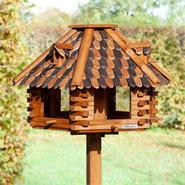 """VOSS.garden """"Autumn Leaves"""" Wooden Bird Table with Stand"""