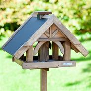 "VOSS.garden ""Herte"" - Wooden Birdhouse, Feeder with Stand"