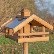 "VOSS.garden ""Grota"" - Wooden Bird Table, with Stand"
