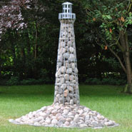 VOSS.garden Lighthouse 180cm, Galvanised, Garden Decoration, Iron