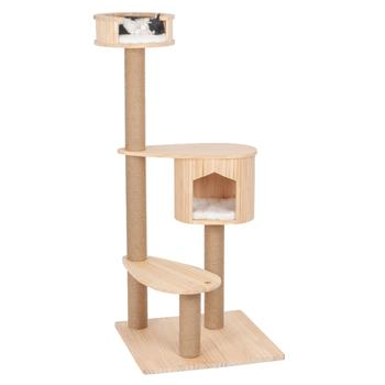 "VOSS.PET Cat Tree ""Isabel"" - Premium Solid Wood Cat Tree, 135cm High"