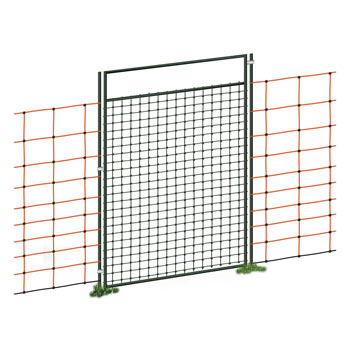 Gate for Electric Fence Netting, Electrifiable, Complete Kit, 125cm