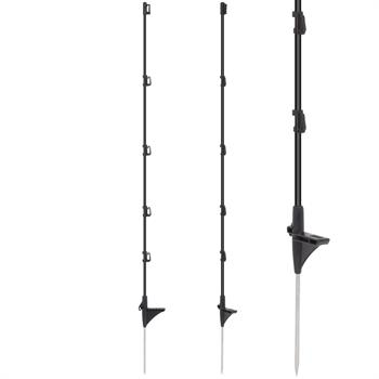 10 x Fibreglass Posts, 110 cm, Black, for Home and Yard, Ideal for Pet Fences