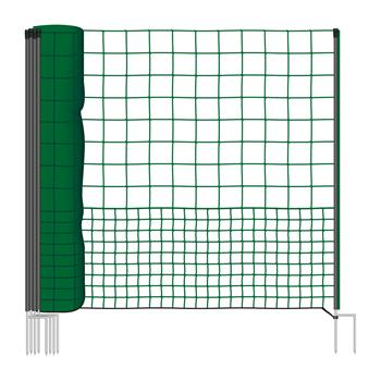 VOSS.farming Premium Poultry Netting 25 m, 125 cm, 2 Spikes, Non-Electric