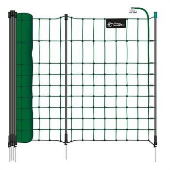 VOSS.farming farmNET®+, 25m Small Animal Netting, Rabbit Fence, 65cm, 11 Posts, 1 Spike, Green