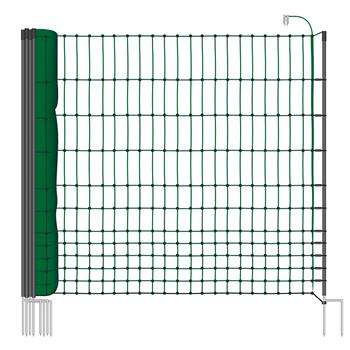 VOSS.farming classic 15 m Poultry Netting, 112 cm, 6 Posts, 2 Spikes, Green